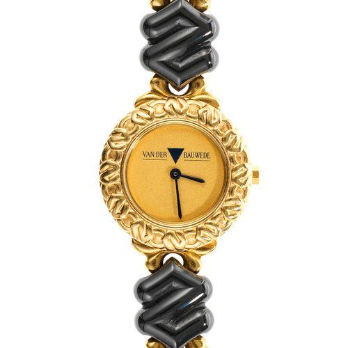 Van der Bauwede, montre bracelet ronde à quartz  Cadran doré satiné, aiguilles n…