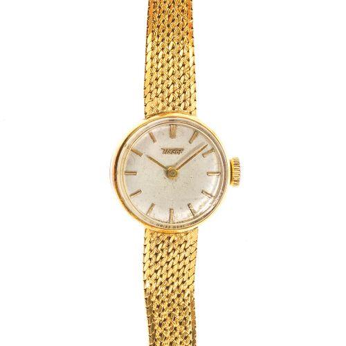 Tissot, montre bracelet ronde mécanique  Cadran gris, aiguilles et index bâtons …