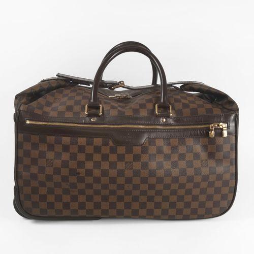 Louis Vuitton, sac cabine à roulettes  Toile cirée en damier et cuir, garniture …