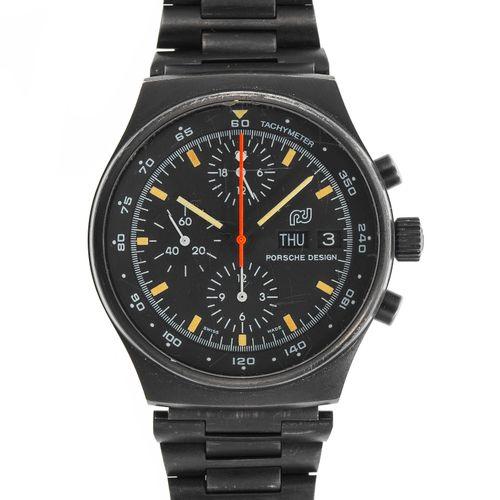 Porsche Design, montre bracelet chronographe ronde automatique  Cadran noir, aig…