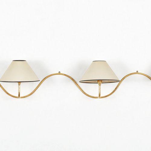 Applique serpentin  Métal doré, L 310 cm