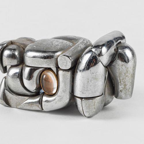Miguel Berrocal (1933 2006)  Mini Maria, métal, signé et numéroté 679, H 8 cm