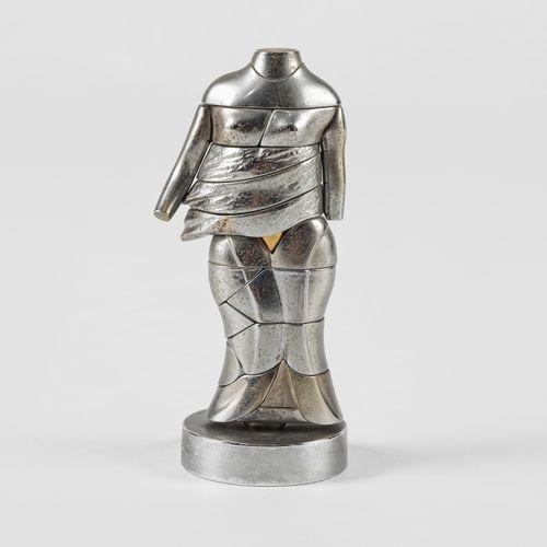 Miguel Berrocal (1933 2006)  Mini Cariatide, métal, signé et numéroté 3370, H 14…