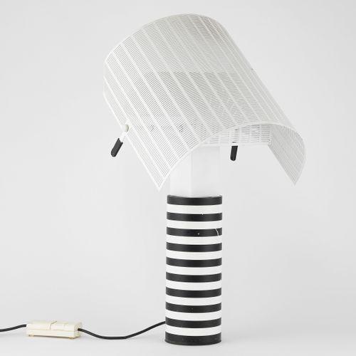 Lampe Shogun par Mario Botta (1943), éditions Artemide  Métal perforé laqué blan…