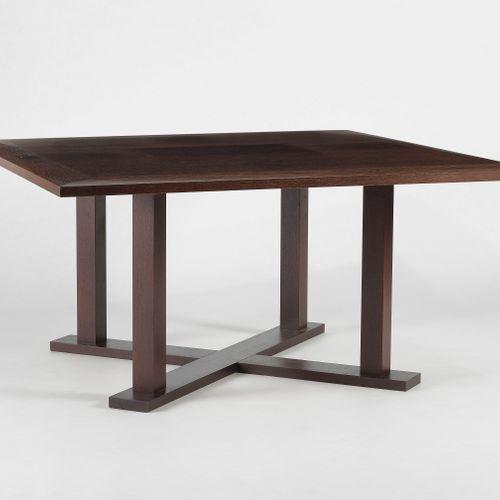Table de réunion par Christian Liaigre (1943)  Modèle Digue, bois de wengé, 150x…
