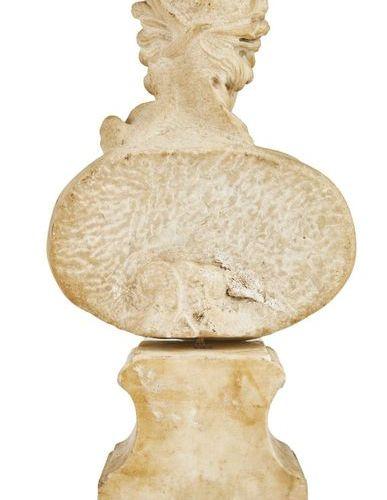 394 Buste de Céres in marble  seventeenth century  Frusto conical pedestal  51 x…