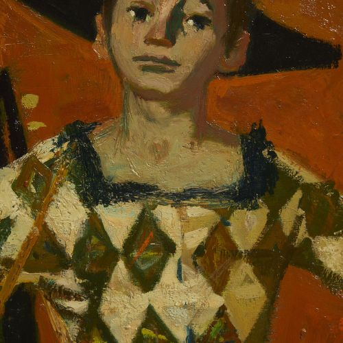 14 Lucien FONTANAROSA (1912 1975)  Arlequin debout, 1957  Huile sur toile  Signé…