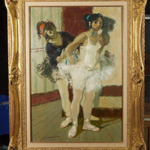 2 Lucien FONTANAROSA (1912 1975)  Deux danseuses au miroir, circa 1960  Huile su…