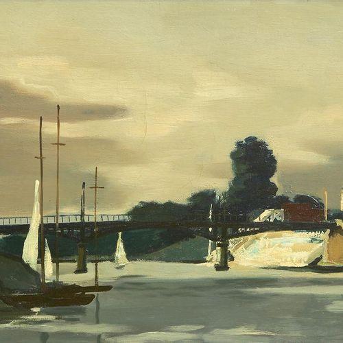 32 Lucien FONTANAROSA (1912 1975)  Paysage de Bry sur Marne, 1943  Huile sur toi…