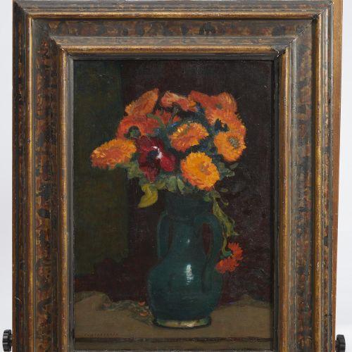 17 Lucien FONTANAROSA (1912 1975)  Bouquet de fleurs, circa 1950  Huile sur toil…