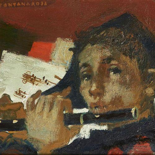 6 Lucien FONTANAROSA (1912 1975)  Arlequin à la flûte  Huile sur toile  Signée e…