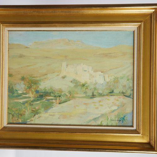 31 Lucien FONTANAROSA (1912 1975)  Paysage du Maroc  Huile sur toile  Signée en …