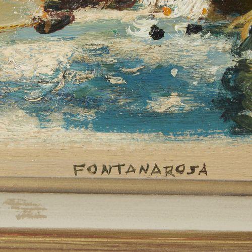 35 Lucien FONTANAROSA (1912 1975)  Les régates au Lecques, circa 1965  Huile sur…