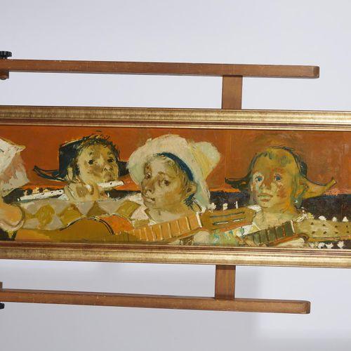 3 Lucien FONTANAROSA (1912 1975)  Trois musiciens, circa 1960  Huile sur papier …