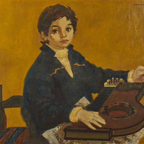 4 Lucien FONTANAROSA (1912 1975)  Renaud à la cithare, 1954  Huile sur toile  Si…
