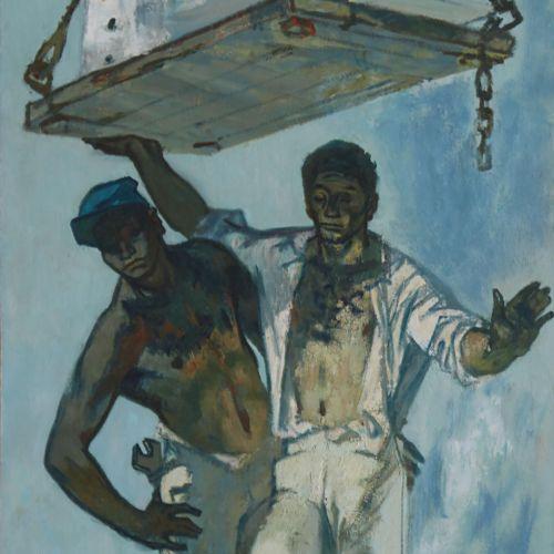 28 Lucien FONTANAROSA (1912 1975)  L'âge mécanique, 1959  Huile sur toile  Signé…