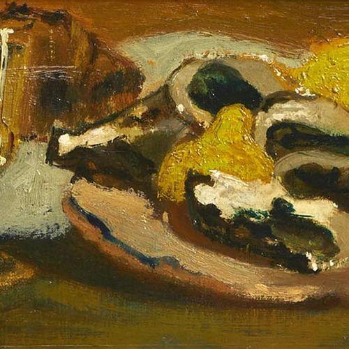 22 Lucien FONTANAROSA (1912 1975)  Nature morte aux huîtres et aux citrons  Huil…