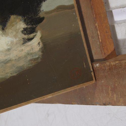 12 Lucien FONTANAROSA (1912 1975)  Trois poules  Huile sur toile  Signé du cache…