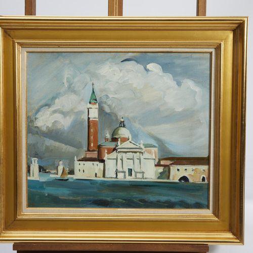7 Lucien FONTANAROSA (1912 1975)  Venise, San Giorgio Maggiore  Huile sur toile …