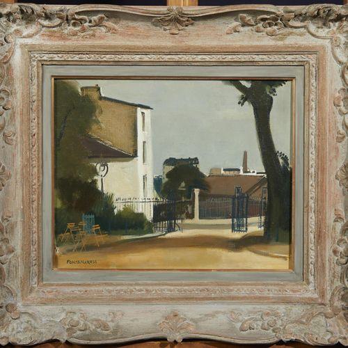 37 Lucien FONTANAROSA (1912 1975)  Paris, entrée du Parc des Buttes Chaumont, 19…