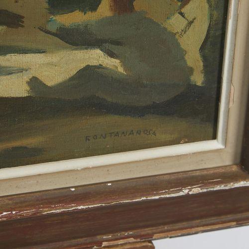 33 Lucien FONTANAROSA (1912 1975)  La partie de campagne, circa 1930  Huile sur …