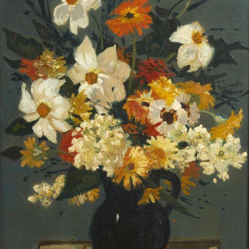 16 Lucien FONTANAROSA (1912 1975)  Bouquet de fleurs, 1955  Huile sur toile  Sig…