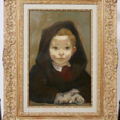 49 Lucien FONTANAROSA (1912 1975)  Portrait d'un jeune garçon, 1946  Huile sur t…