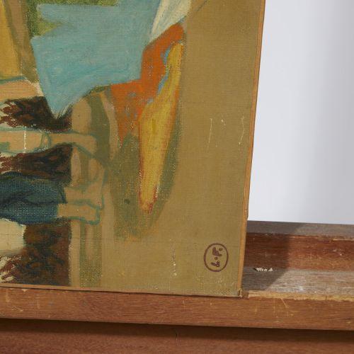 15 Lucien FONTANAROSA (1912 1975)  Enfants aux cerfs volants, circa 1955.  Huile…