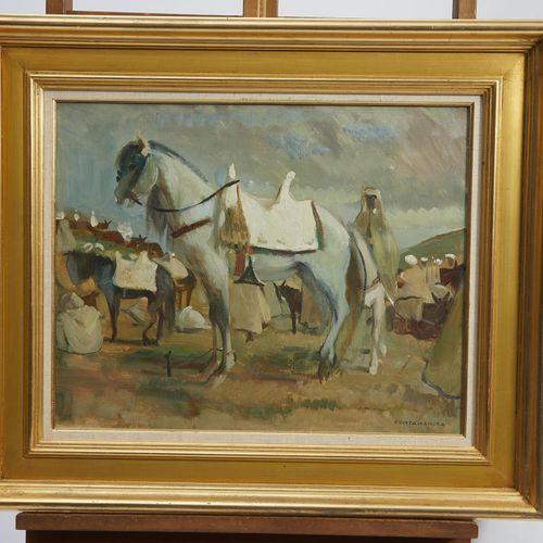 30 Lucien FONTANAROSA (1912 1975)  Campement arabe, circa 1938  Huile sur toile …