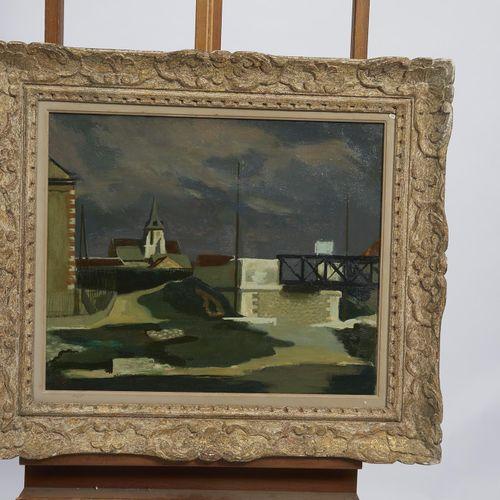 38 Lucien FONTANAROSA (1912 1975)  Église en Île de France  Huile sur toile  Sig…