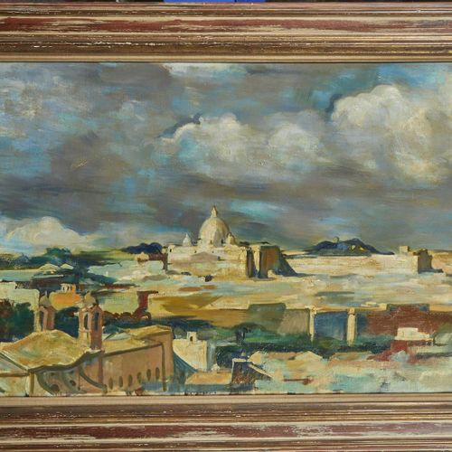 23 Lucien FONTANAROSA (1912 1975)  Vue de Rome, 1937  Huile sur toile  Signée en…