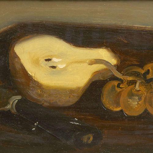 13 Lucien FONTANAROSA (1912 1975)  Nature morte à la poire et aux raisins  Huile…