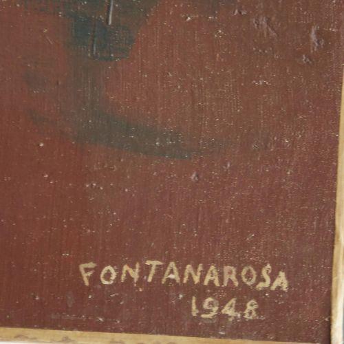 19 Lucien FONTANAROSA (1912 1975)  La chasse, 1948  Huile sur toile  Signée et d…