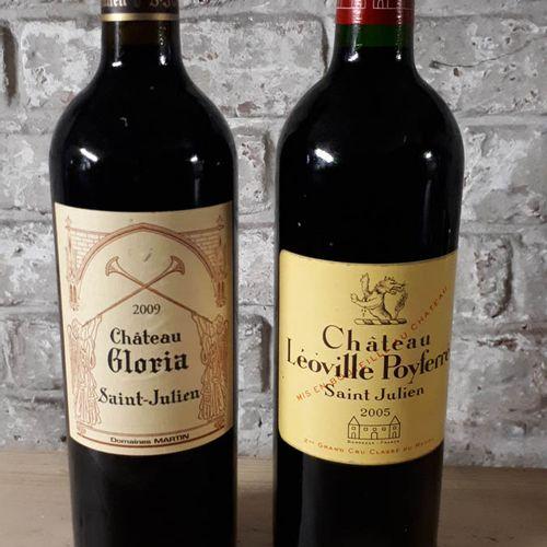 2 B Duo St Julien dont 1BCHÂTEAU GLORIA 2009 (etla)  1B CHÂTEAU LEOVILLE POYFERR…