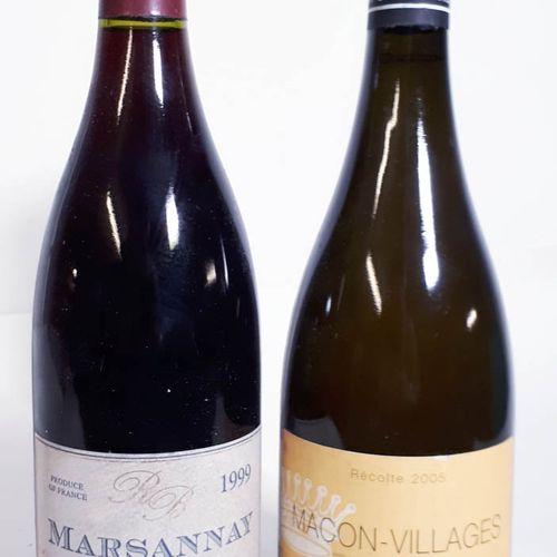 2 B Duo dont 1B MARSANNAY rouge CLOS DU ROY (efs, cls),  & 1B MACON VILLAGES bla…