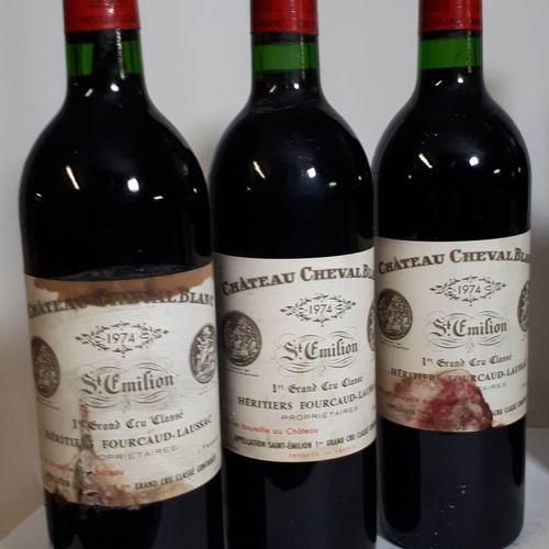 3 B CHÂTEAU CHEVAL BLANC (Beaux N. 2ets, 1cla) St Emilion 1erGCC 1974