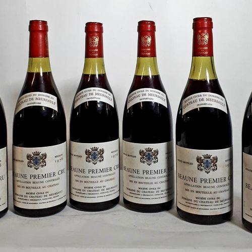 6 B BEAUNE 1ER CRU (1N. 3,3cm & 2N. 4cm, elfs, 1clc) Château de Meursault 1976