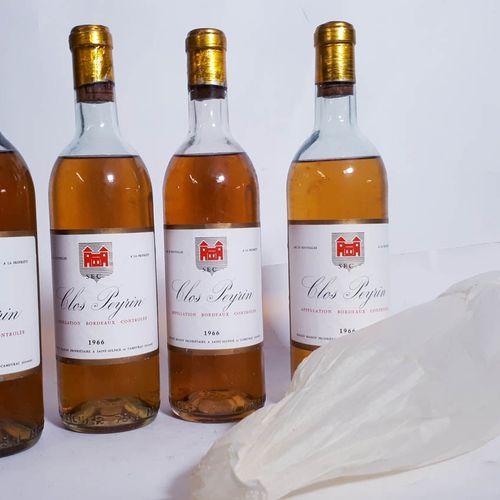4 B CLOS PEYRIN BLANC ( B.E, cla, avec madérisation ) Romain Maison Bordeaux 196…