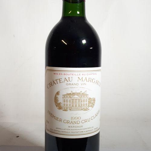 1 B CHÂTEAU MARGAUX (B.G., ctla) 1erGCC Margaux 1990
