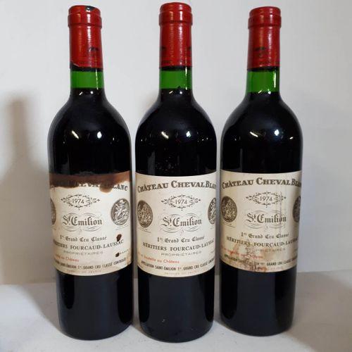 3 B CHÂTEAU CHEVAL BLANC (Bons N. 1ets a, 2es, 1ca) St Emilion 1erGCC 1974