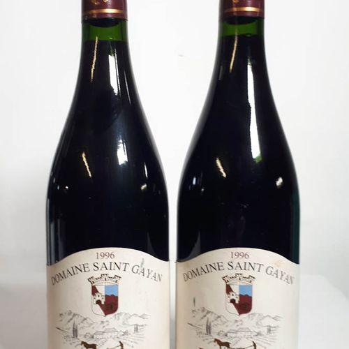 2 B RASTEAU rouge, Dom. St Gayan (etla) C.Du Rhone V. 1996