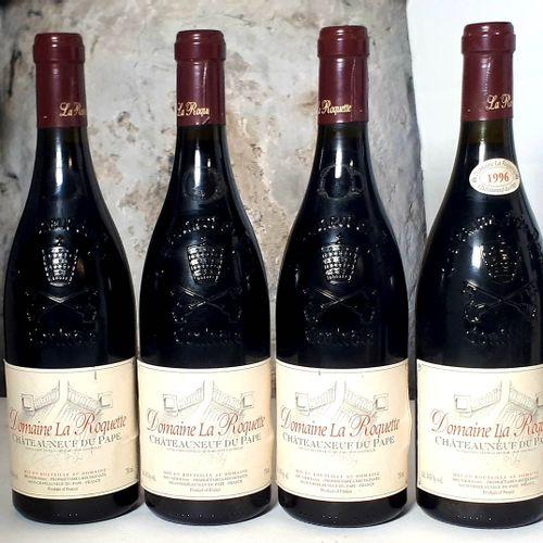 4 B CHATEAUNEUF DU PAPE (elfs, ctla frottmt, 3 scm) Dom. La Roquette 1996