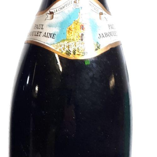 """1 B HERMITAGE rouge """"La Chapelle"""" ( 2,9cm, es, cla) Jaboulet Ainé 1989"""
