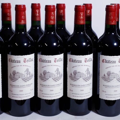 12 B CHÂTEAU TEILLAC (*) Puisseguin St Emilion 2000