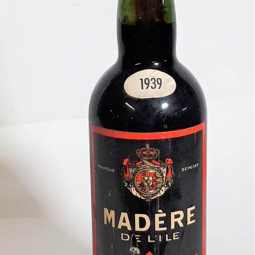 1 B MADERE de l'Ile, 18°, MPR, Vin de Liqueur. Boudringhien, import. 1939