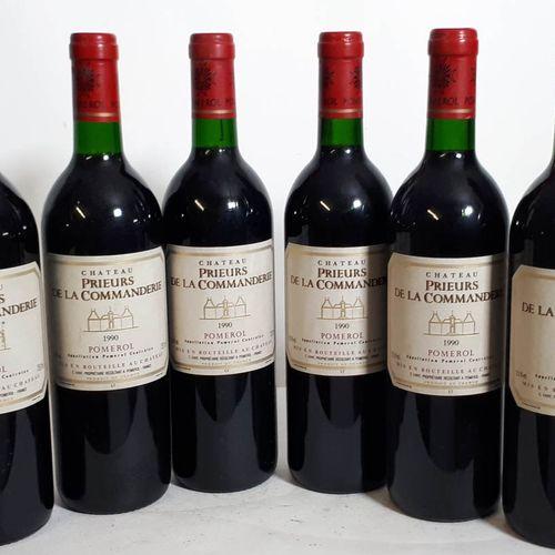 6 B CHÂTEAU PRIEURS DE LA COMMANDERIE (elf, 1cls) Pomerol 1990