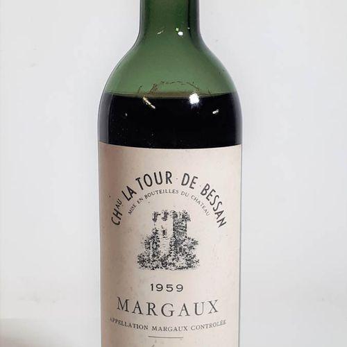 1 B CHÂTEAU LA TOUR DE BESSAN (B.E. Elf, cla, jolie robe sombre) Margaux 1959