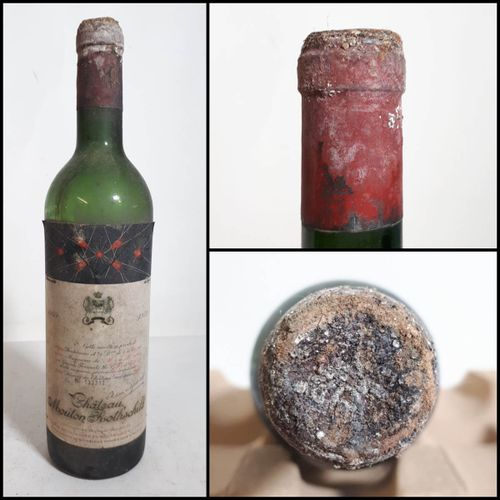 1 B CHÂTEAU MOUTON ROTHSCHILD (N. Vidge 8cm, ets, cta, cc) Pauillac 2èGCC 1959