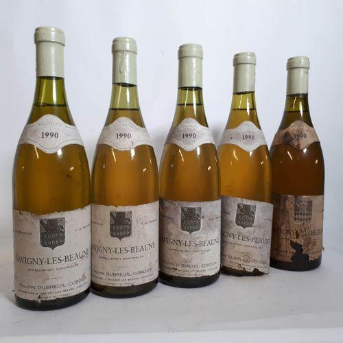 5 B SAVIGNY LES BEAUNE blanc ( eta, es, 1 e. Décollée, cs, 1ca) Dubreuil Cordier…