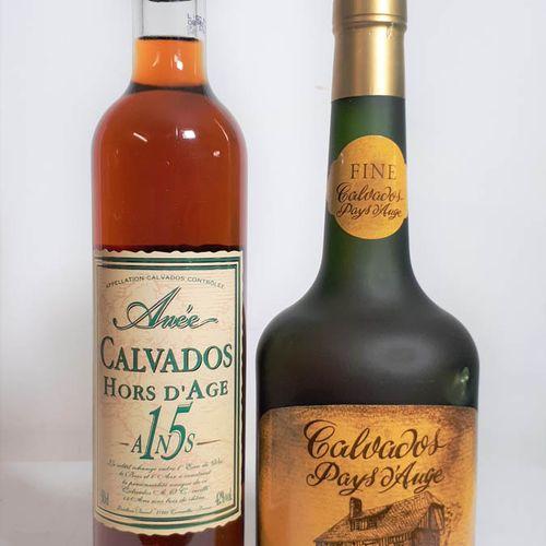 2 B Duo de CALVADOS dont 1B C. PAYS d'AUGE, 40% vol. J.Verrier  1B HORSd'AGE 15 …